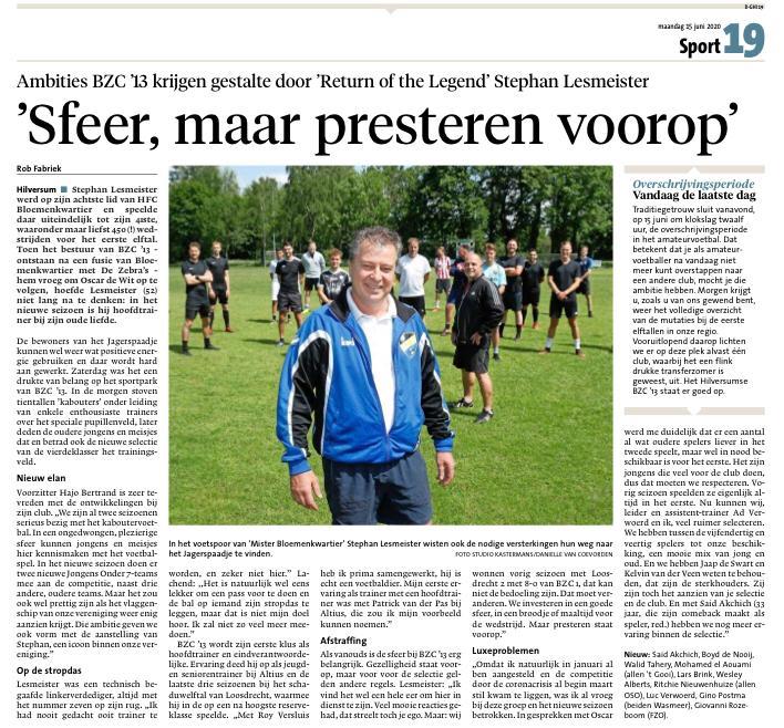Stephan Lesmeister in de Gooi en Eemlander